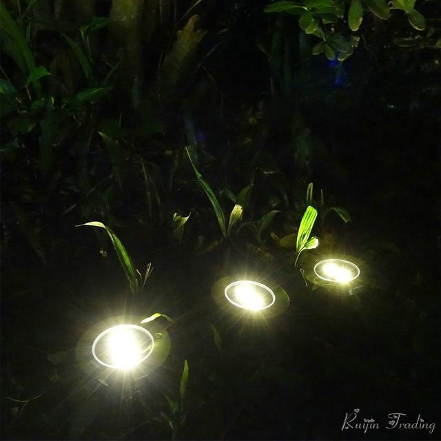 Online-Shop 4 LED Solar Licht Außen Boden wasserdicht Pfad Garten ...