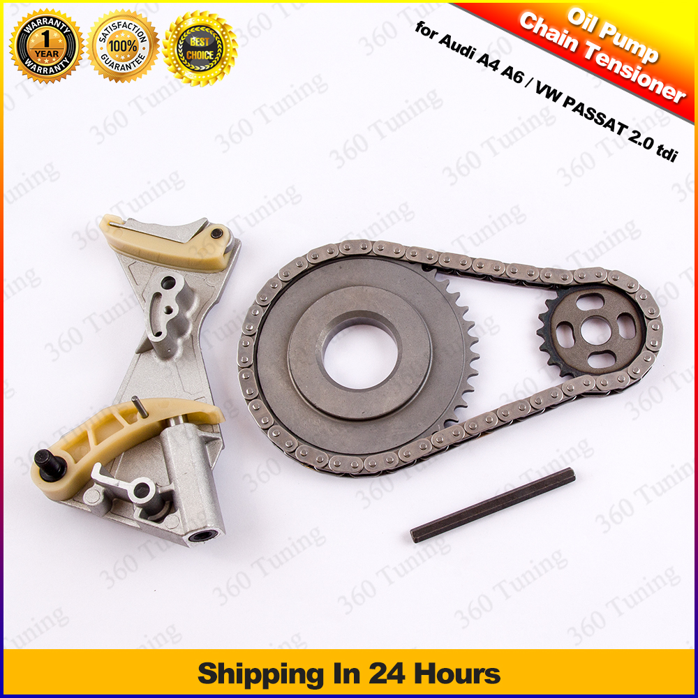 For Audi A4 A6 VW Passat 2.0 TDI BLB Oil Pump Chain Sprocket Tensioner Kit 03G105173 03G115124D 03G103333E 03G115124D крышка стеклянная swiss diamond zz009279