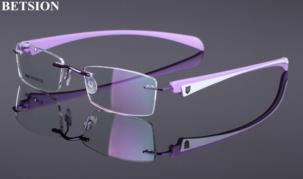 TR90 Rimless Reading Glasses Retro Fashion+50 +75 +100 +125 +150 +175 +200 +225 +250 +275 +300 +325 +350 +375 +400 +425 +450 +5