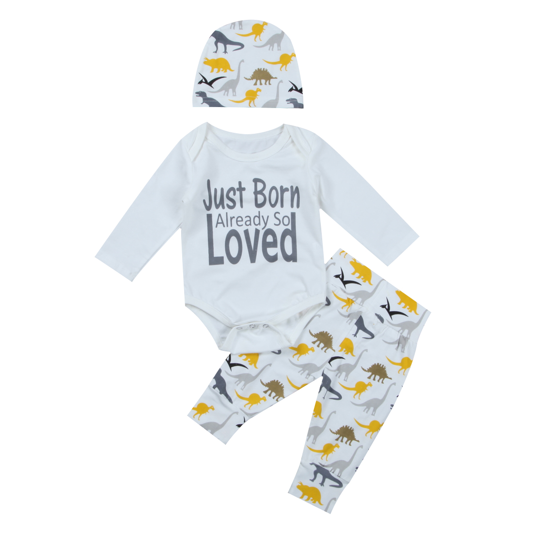 Toddler Infant Baby Boy Girl Clothes Romper Print Pants Outfits Set Newborn Girls Boys Daily Playsuits Cotton Clothing Set