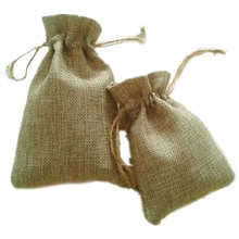 JLB wholesale 10x15cm 100pcs  Faux jute/Hessian Mini Bags wedding bomboniere Gift bags  Free Shipping