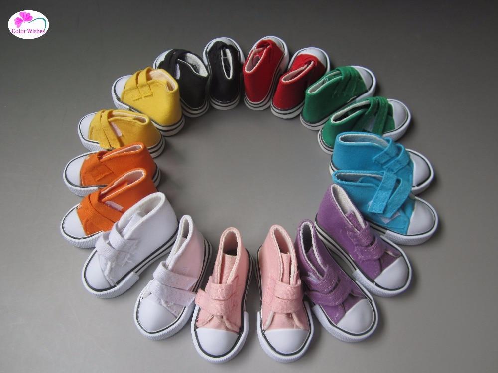 Mini font b toys b font doll Shoes 7 5cm Canvas Shoes for Dolls 1 4