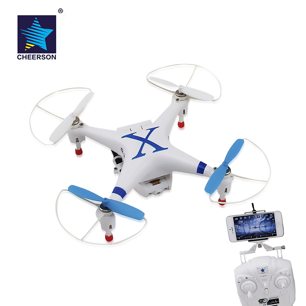 Original Cheerson CX 30W RC Drones WiFi FPV Real Time Transmission RC Quadcopter drone with Camera HD 0.3MP HD VS SYMA X5SW 2016 syma x5hw 2 4g 4ch fpv drone with camera hd wifi real time transmission aerial quadcopter 3d roll vs syma x8c fast shipping