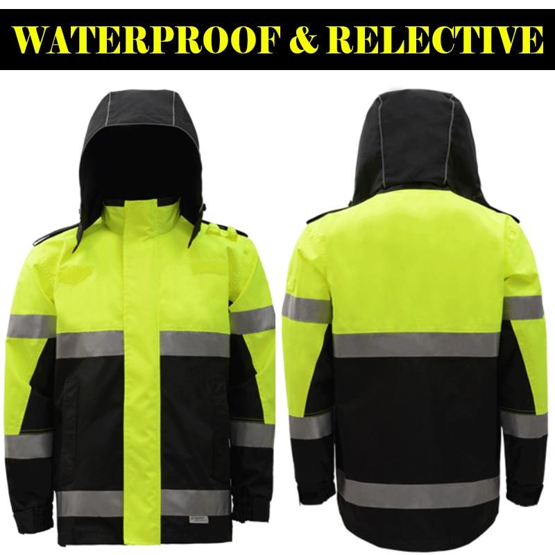 dfa8f7201b9 Cheap SFVEST HI VIZ VIS PARKA estándar impermeable ropa de trabajo abrigo  reflectante protección de seguridad