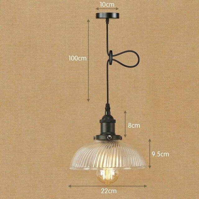 Iwhd Lamparas Led Colgante Luz Loft Estilo Vintage Lámpara Cristal  Iluminación Industrial Lámparas Colgantes E27 220