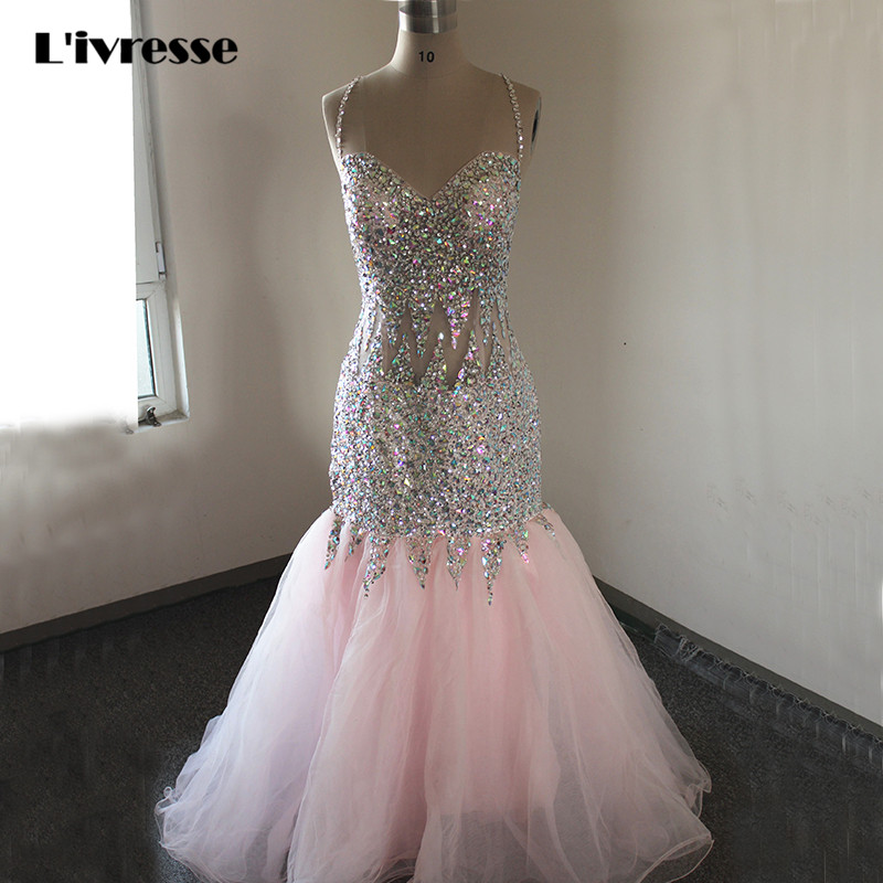 Robe Africaine: Sexy Backless Mermaid Prom Dress Long Tulle Robe De Soiree