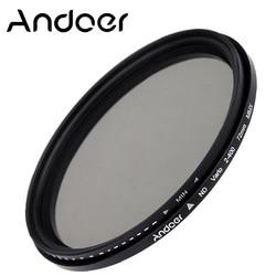 Andoer 72mm ND Filter Fader Neutral Density Adjustable ND2 to ND400 Variable Filter for Canon Nikon DSLR Cameras