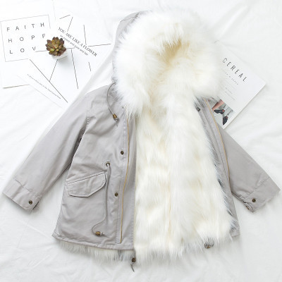2018 New Children Winter Long Clothes Boys Girls Faux Fur Coat Warm Thicken Coat 2-9y Girls Windbreak Pink Winter Jacket Outwear iceberg iceberg ic461cwjgx40