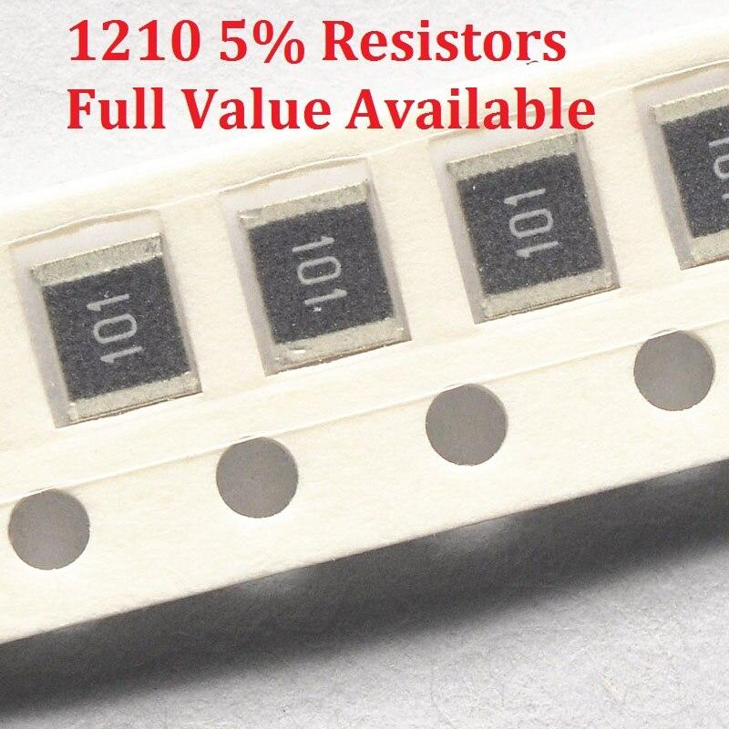 100 шт./лот SMD чиповый резистор 1210 91K/100K/110K/120K/130K/Ohm 5% сопротивление 91/100/110/120/130/K резисторы бесплатная доставка