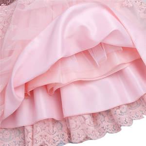 Image 5 - Iefiel 유아 아기 소녀 수 놓은 짧은 소매 sequined bowknot 꽃 소녀 첫 성찬식 공주 결혼식 미인 대회 드레스