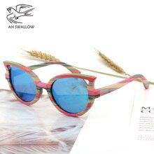 skateboard wood sunglasses women occhiali da sole donna lentes de sol mujer polarized oculos feminino