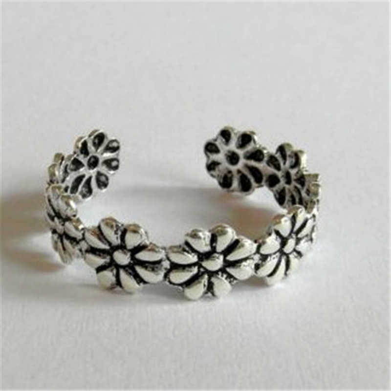 2018 new jewelry cheap smilp summer wild daisies flowers luck foot cute ring joint ring for women free shipping