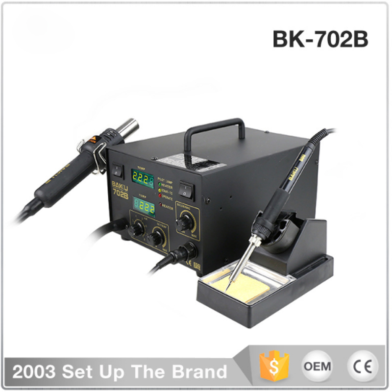 BK-702B two in one electric iron, double digital display antistatic soldering station thermostat iron
