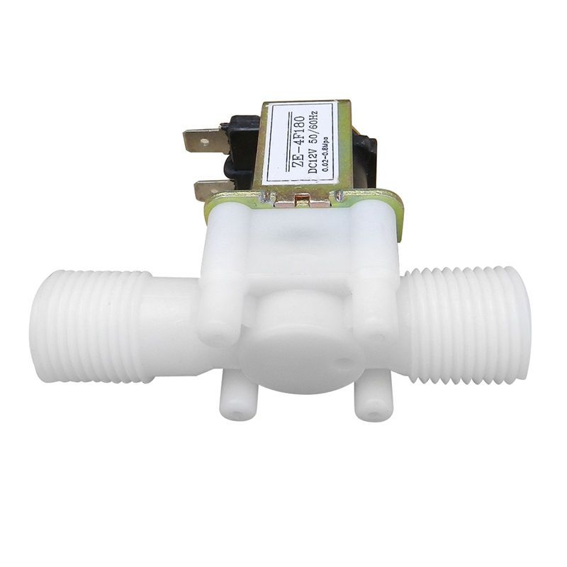 12V 1/2inch N/C Plastic Electric Solenoid Valve Magnetic Water Air Normally Closed 220v ac 1 4 n c normally closed plastic electric air gas water solenoid valve black