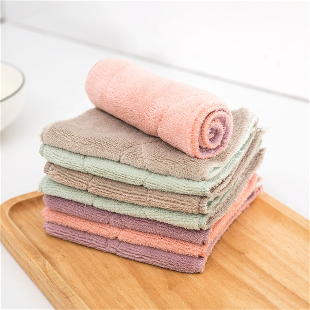 Microfiber Dish Rags: Microfiber Absorbent Home Kitchen Towels Wiping Dust Rags