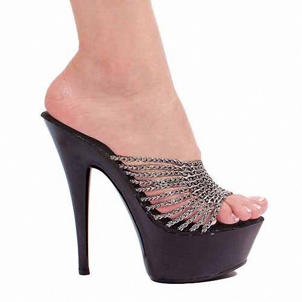 Silver shiny ribs peep-toe beauty beautiful high-heeled sandals 15 cm high with new shoes in Europe and America women sandals shiny leather peep toe