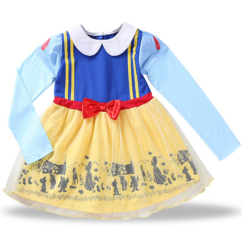 Kids Clothes Girls Dresses Snow White baby Girl Princess Dress Halloween Party Costume Children Clothing Children Cosplay Dress hot new year children girls fancy cosplay dress snow white princess dress for halloween christmas costume clothes party dresses