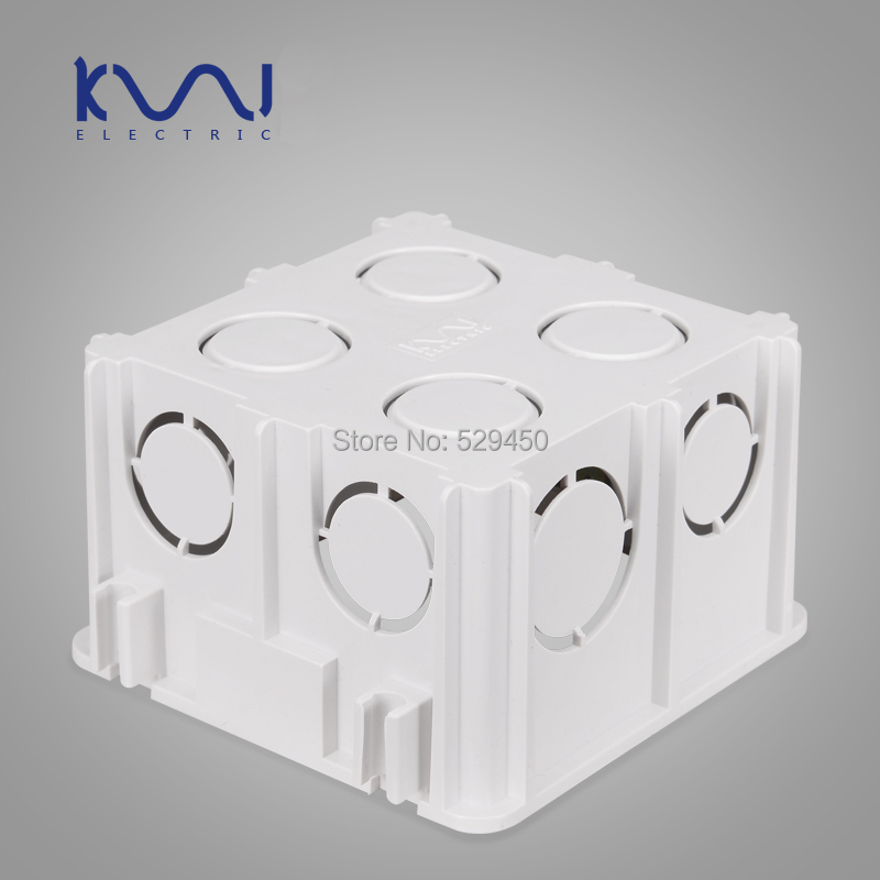 Wall Mounting Box, 86 Internal Cassette, Wiring Box, White Back Box for 86mm*86mm