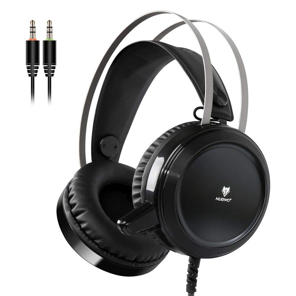 NUBWO N1 Noise Cancelling Gaming Headset Over Ear Game Headphone Computer Earphones Stereo Microphone