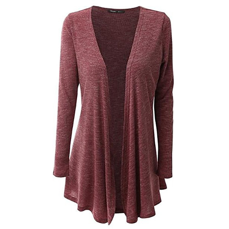 Ladies Thin Coat Open Stitch Women Fashion Long Sleeve Solid Color Slim Fit Casual Cardigan Feminina Cardigan Outerwear KH836063