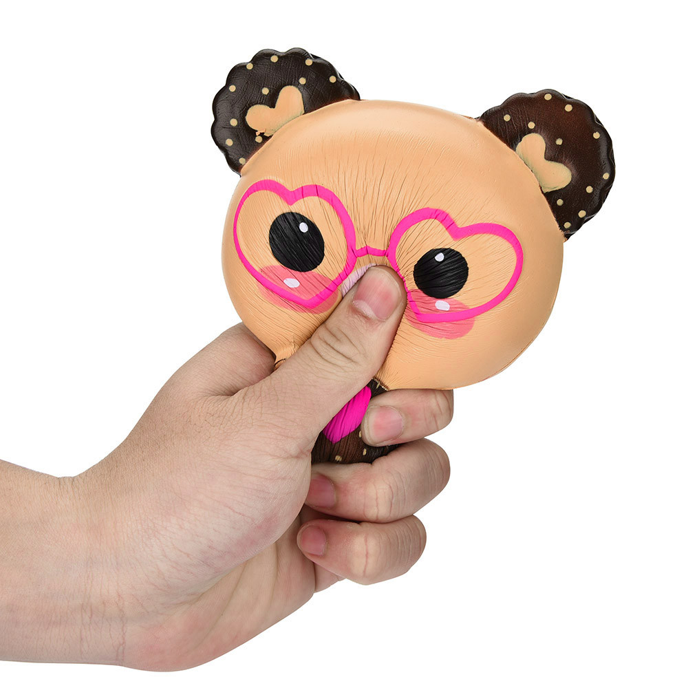 child baby boy girl toy Squishy Love Cute Glasses Bear Scented Squishy Charm Super Slow Rising Squeeze Toys Stress Reliever Toy