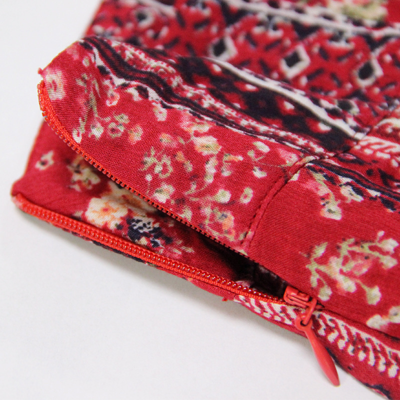 Elegante Pantalón Muxu Bohemia Ancho Algodón De Vintage Pantalones Streetwear Impresión Floral Flower Colour Mujer Verano q7CxHwq