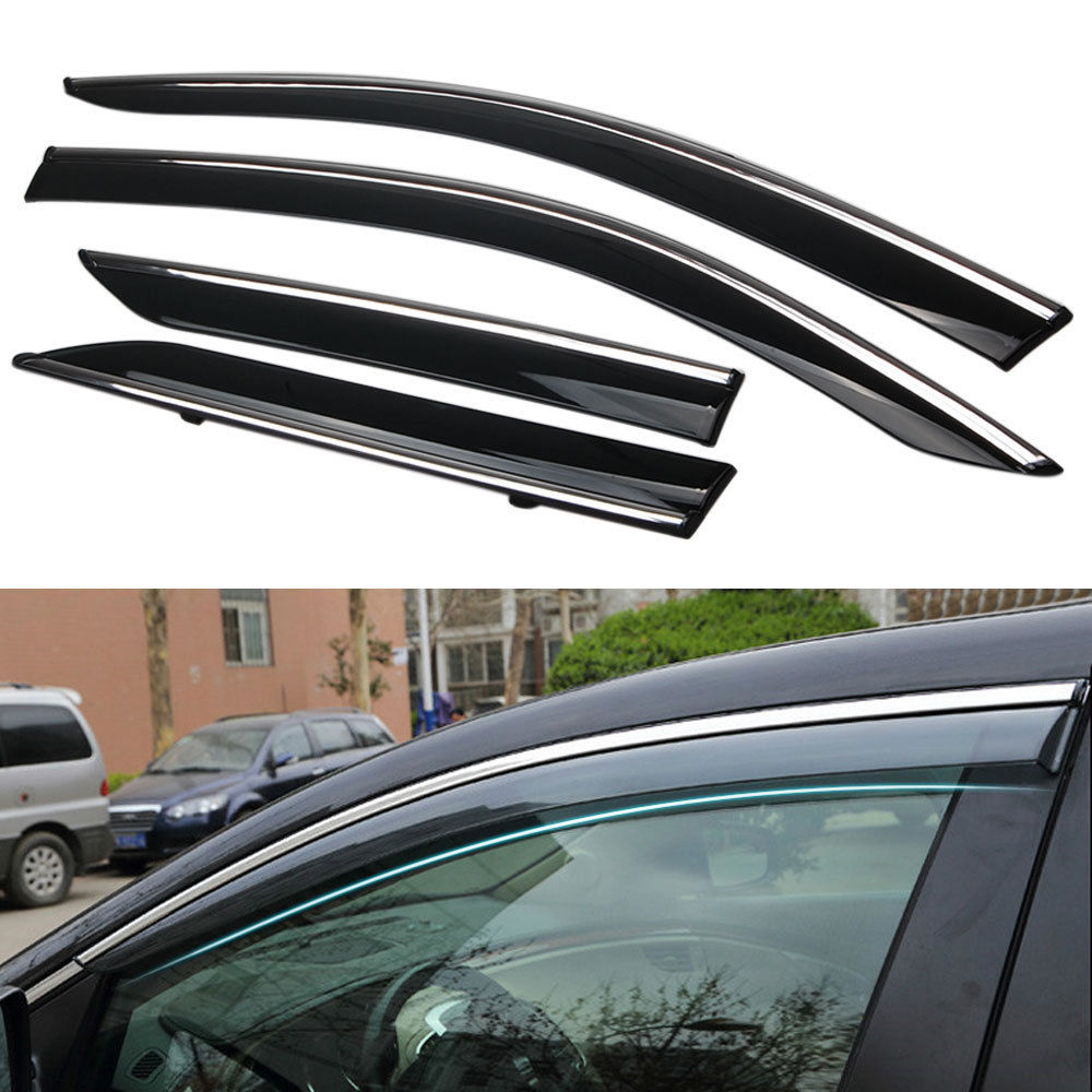 For Toyota CHR C-HR 2016+ New Car Door Window Rain Sun Guard Visor Wind Deflector 2017 car wind deflectors of accessories for toyota hilux revo 2015 new pickup white window rain guard hilux window visor ycsunz
