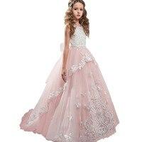 Платье для девочек; детское свадебное платье; кружевное платье ручной работы с цветочным узором; платье пачка для девочек на день рождения