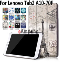 For Lenovo Tab2 A10 70F Case Tablet Accessories Case For Lenovo Tab3 10 Plus Painted Smart