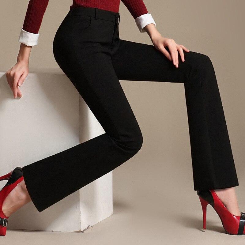 2018 Cintura Caliente Campana Elástico Resorte Tamaño Pantalones Mayor Por A Alta Al Rojo Forman Nuevo Más Negro Largo Del verde Negro Mujeres rojo Delgado Hembra d81xwFtqY