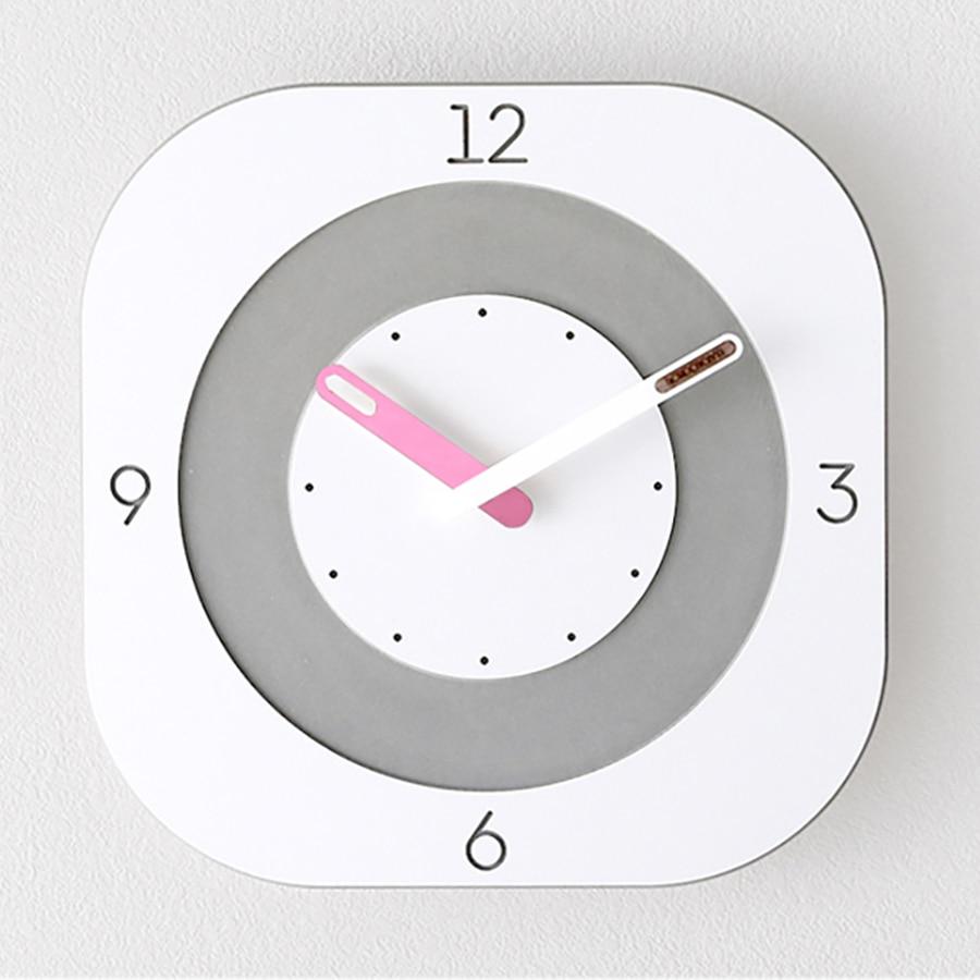 Art White Square Clocks Wall Clock Modern Design Home Decor Pow Patrol Clock Luxury Relogio Parede Living Room Decoration 5ZB186