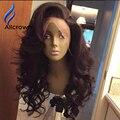 Alice 100 pelucas de pelo humano para los afroamericanos brasileño onda del cuerpo Peluca Delantera del cordón Pelucas Del Pelo Humano Peluca Llena Del Cordón Del Pelo Humano