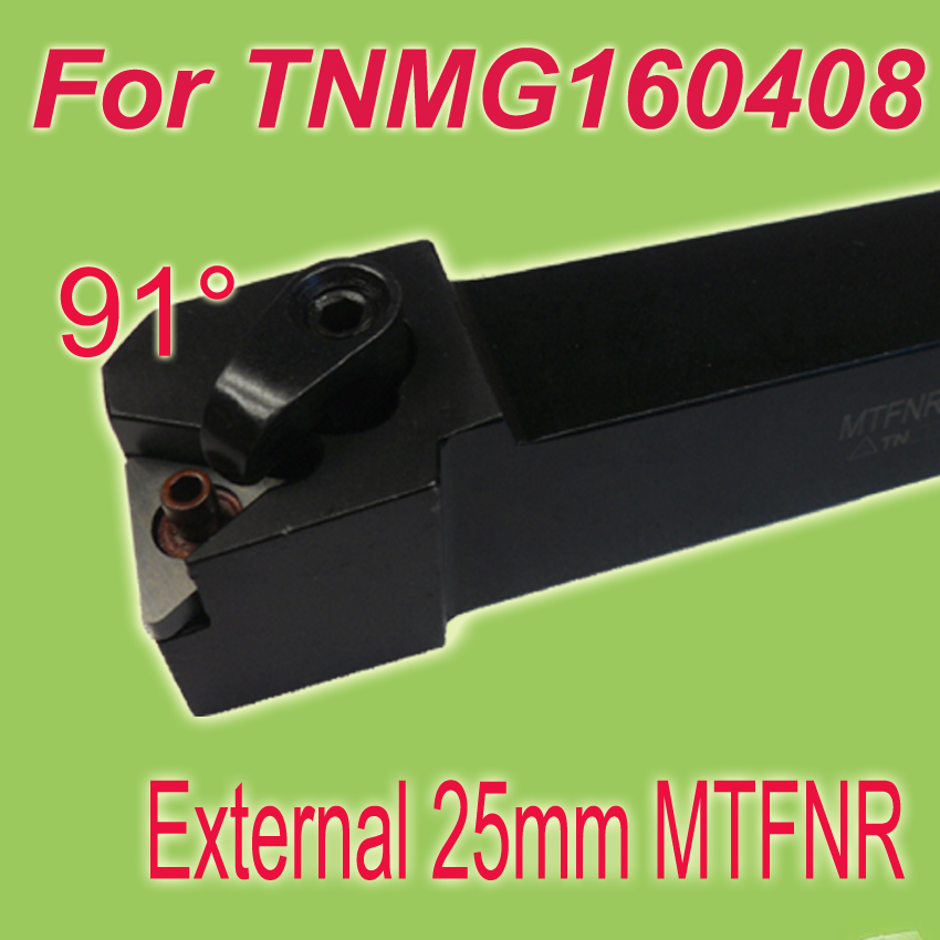цены  Free Shiping MTFNR 25*25*150 SHK 1'' 91 Degree External Turning Lathe Bar Tool Holder For TNMG160408 Used on CNC Lathe Machine
