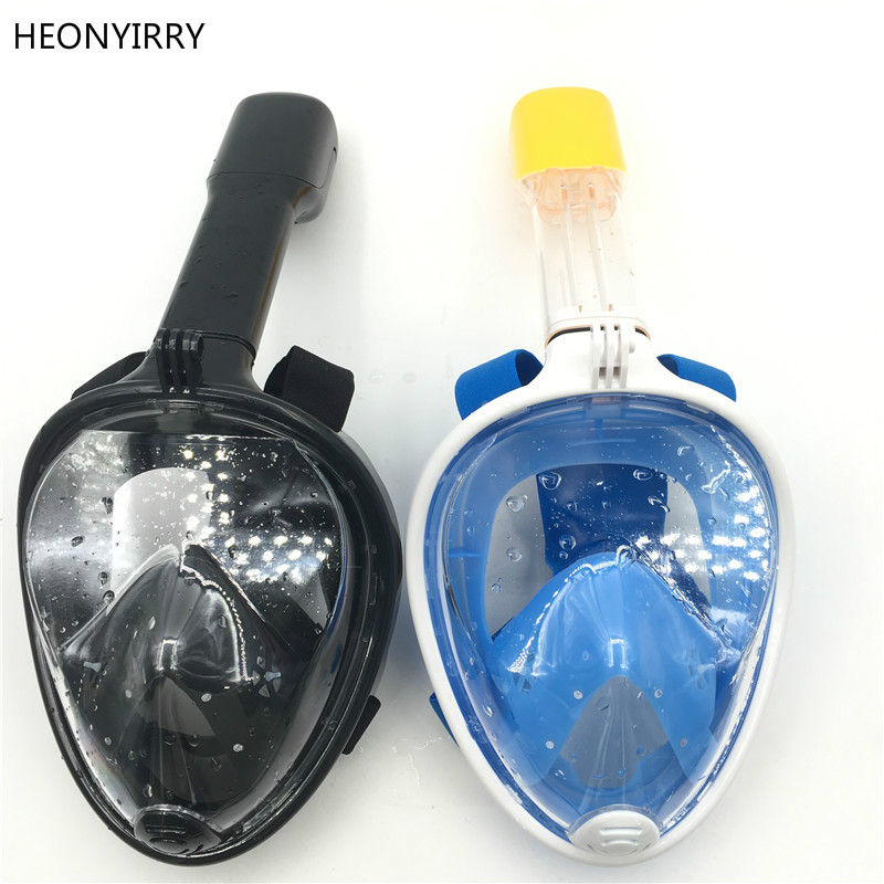 2018 new Underwater Scuba Anti Fog Full Face Mask Snorkeling Set Respiratory masks Safe and waterproof For Gopro Accessories