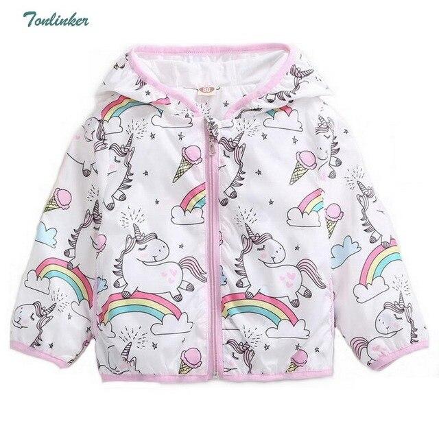 fc775351e 2018 New Autume Kids Unicorn Jacket For Girls Dinosaur Baby Girl ...