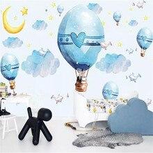 Cartoon hot air balloon background wall high-grade cloth factory wholesale wallpaper mural photo