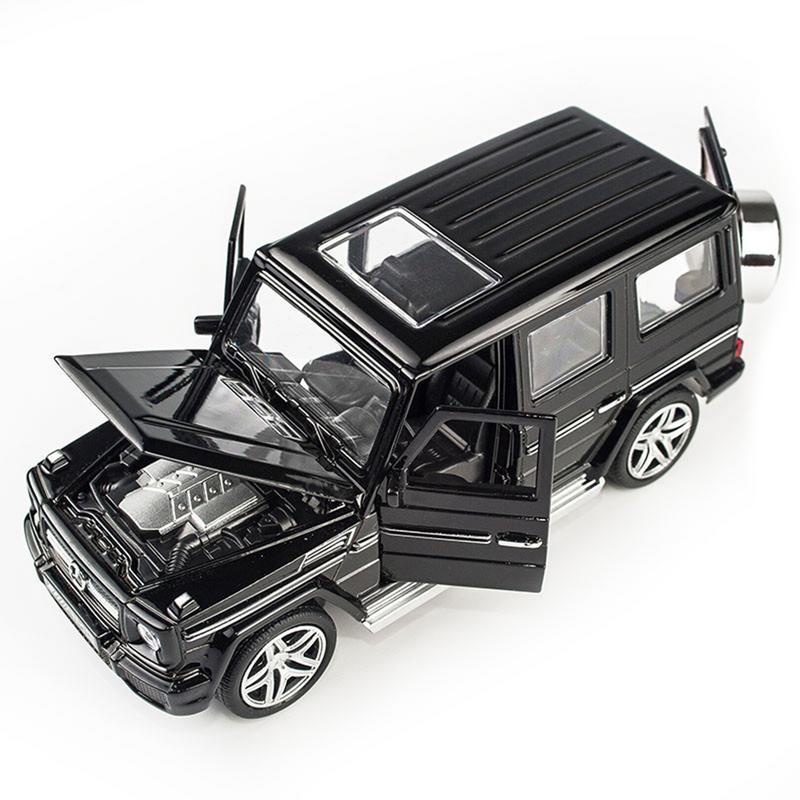 Модель автомобиля из 1:32 сплава, модель автомобиля, игрушечный звуковой светильник, игрушечный автомобиль для G65 SUV AMG, игрушки для мальчиков, детский подарок - Цвет: Черный