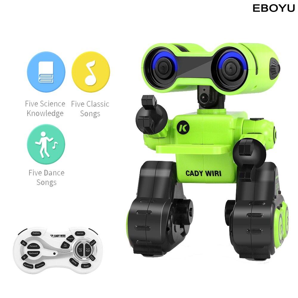 EBOYU JJR/C JJRC R13 Cady WIRI Robot Intelligent Exploration scientifique Programmable musique danse RC Robot jouet pour enfants cadeau
