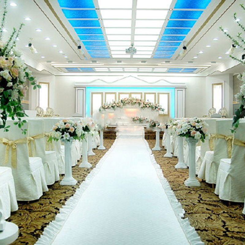 Wedding Party Decoration Carpet White Rug Aisle Runner Nonwoven 80cm Wide 15meter Long 18color