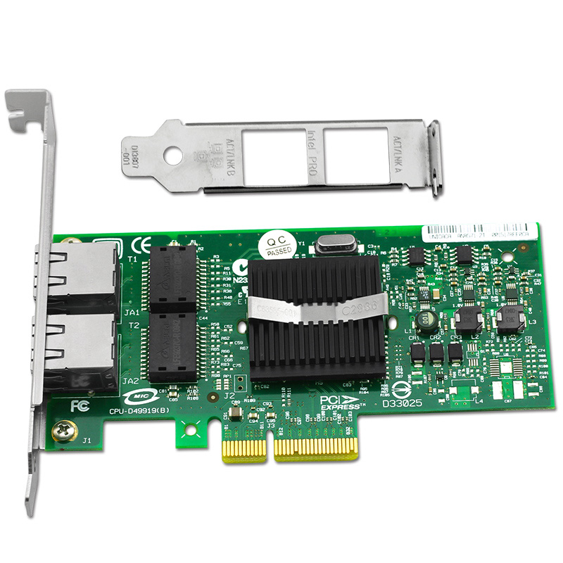 ФОТО Free Shipping 2 Ports Gigabit Ethernet Server Card 1000Mbps Chipset for 82571EB PCI-E X4