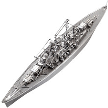 2018 Piececool 3D Metal Puzzle Figure Toy BISMARCK BATTLESHIP military model Educational Puzzle 3D Models Gift Toys For Children