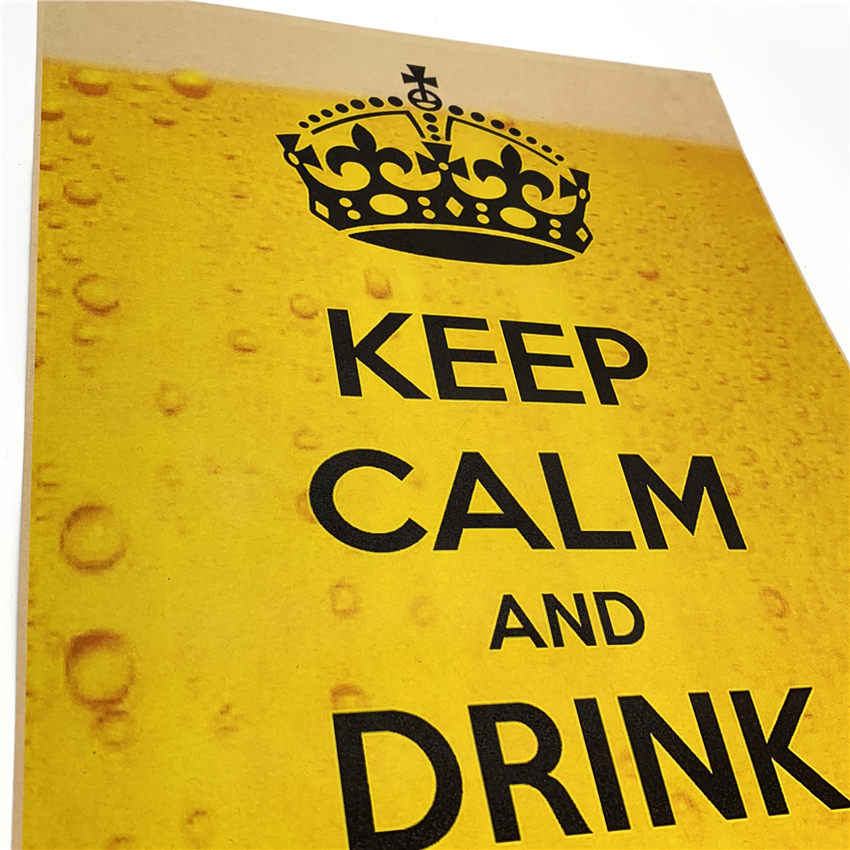 Винтажный KEEP CALM DRINK плакат на тему Пива стикер на стену кафе бар дизайн домашний декор для гостиной печать картина 42x30 см GGB077