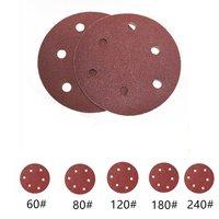 6 Inch 150mm Sanding Discs KangTeer 50pcs 6 Holes Sandpaper Discs Hook And Loop Sanding Discs