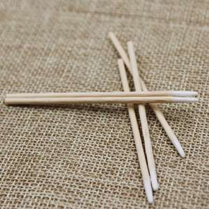 Image 3 - 100 Pcs/lot Pointed Wood Cotton Head Tattoo Sticks Dedicated Clean Cotton Swab Stick for Pro Eyebrow Lip tattoo Beauty Makeup