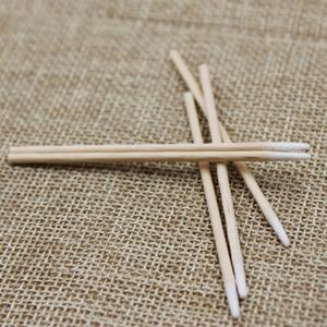 Image 3 - Palillos de algodón para tatuaje con cabeza de madera puntiaguda, belleza profesional para tatuaje bastoncillo de algodón, para cejas, labios, 100 unidades por lote