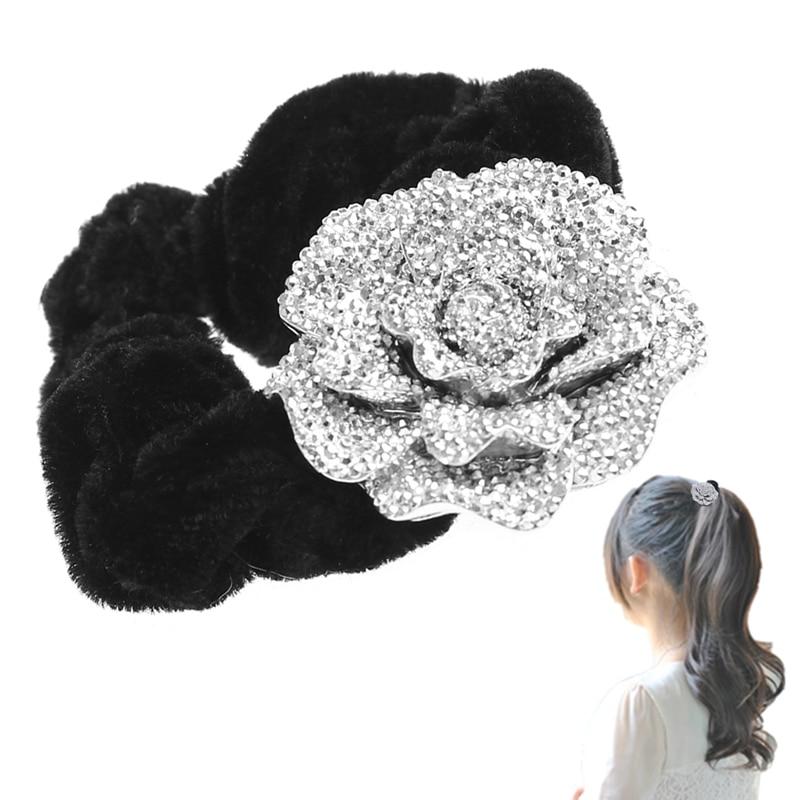 1 pc Women DIY Hair Accessories Fashion Big Rose Flower Cloth headband Hair Rope Hair Accessories