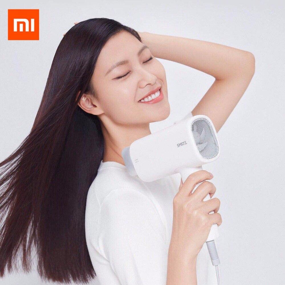 Оригинальный Xiaomi mijia сматэ Фен 1600 Вт сильный ветер быстро фен защиты волос магнитная головка для Xiaomi smart дома