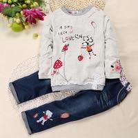 Children Girl Clothing Sets Kids Girls Shirts Clothes Clothing Cartoon Shirt Cowboy Pant Suit Kids Costume