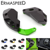 Set Motorcycle Engine Guard CNC Aluminum Decorate Engine Cover Protector Sliders for Kawasaki ZX 10R ZX10R 2011 2012 2013 2014