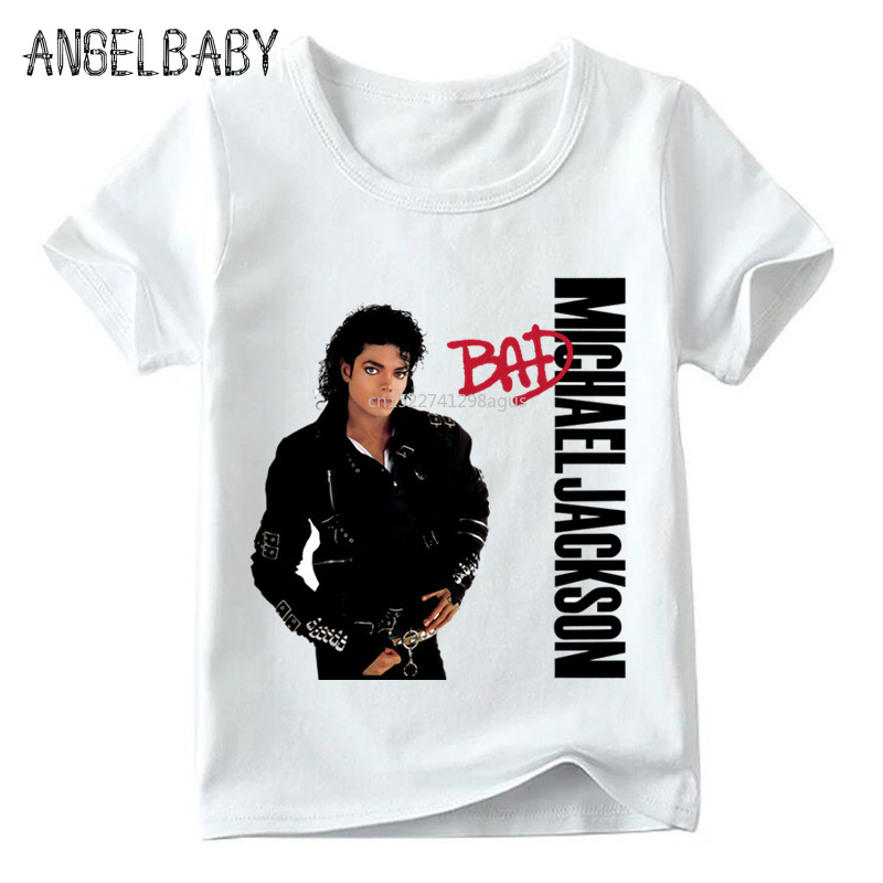 Children Michael Jackson T Shirt Baby Boys/Girls Rock N Roll Star Summer Tops Kids Kpop Casual T-shirt,ooo5145